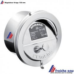 régulateur , clapet de tirage de cheminée UPMANN  en inox diamètre 130 mm
