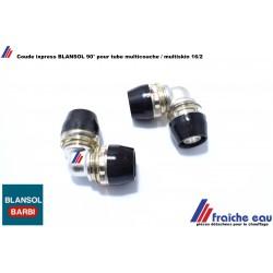 coude ix press 90°  BLANSOL 16 x 16 égal pour tube pex 16 x2 mm conectite ultra rapide et étanchéité par auto sertissage