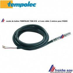 sonde de température TEMPOLEC TSN 010 , capteur par thermistance PTC, pour la régulation  PS005