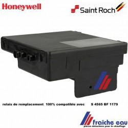 relais équivalent au HONEYWELL S 4565 BF 1179  boîtier noir 100% compatible pour chaudière gaz  SAINT ROCH  et ZAEGEL HELD