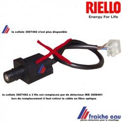 cellule RIELLO 3007492  n'est plus disponible pour le relais MO550  fabriqué avant fin 2017 , consultez notre service technique
