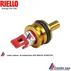 capteur sonde de température NTC probe RIELLO R 10027351 avec joint o ring pour chaudiere à condensation thermistance  BERRETA -