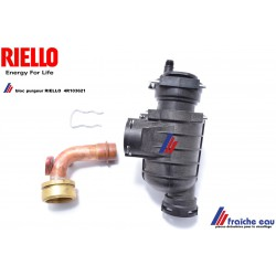 bloc de purge automatique, kit purgeur RIELLO 4R 103621 dégazeur de chaudière  avec tube de liaison