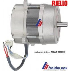 moteur de brûleur RIELLO 3008938 90 watts livré sans condensateur en échange standard , prêt a mettre en service