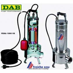 pompe monophasée DAB  FEKA 1000  inox,  avec flotteur de démarrage et arrêt automatique.