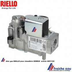 vanne gaz RIELLO 4051122, bloc gaz de chaudiere DOMUS VK4100 HONEYWELL