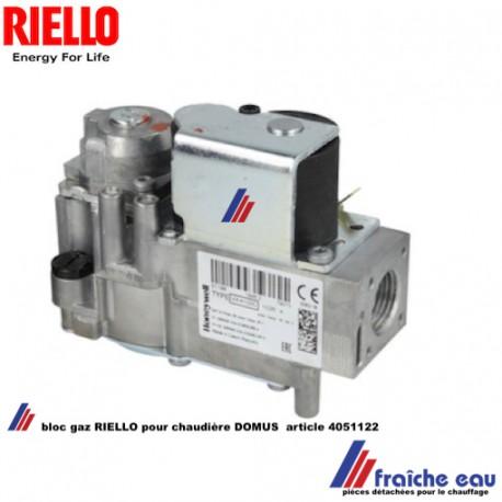 vanne gaz RIELLO 4051122, bloc gaz électrovanne de sécurité  de chaudiere DOMUS VK4100 HONEYWELL