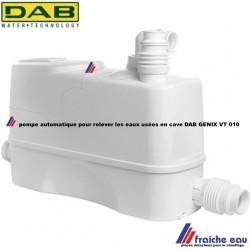 pompe automatique pour relever les eaux chargées de la cave  DAB GENIX VT 010  par exemple machine à laver en sous sol