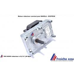 RAVELLI ,moteur réducteur pour l'alimentation automatique de granulés dans le poêle à pellets