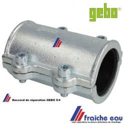 bride de réparation rapide GEBO  pour tube en acier de 5/4 avec joint NBR pour canalisation diamètre nominal de 41 à 43 mm