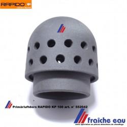 cône de diffusion d'air primaire en céramique  pour chaudière pellets RAPIDO KP 100 dôme de brasier Primärluftdorn art: 552042
