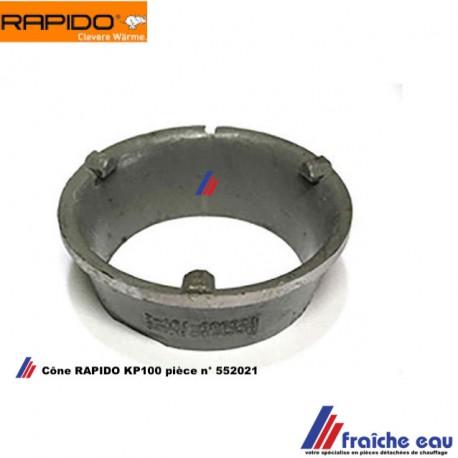 cône de chambre de combustion 552021, intérieur de brasier de chaudière à pellets RAPIDO KP 100