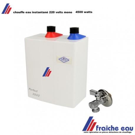 chauffe eau instantané sous pression 4500 watts, boiler de production directe d'eau chaude , bouilloire instantanée