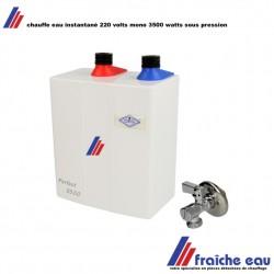 chauffe eau direct 3500 watts, boiler électrique sous pression max 6 bars  à production instantanée