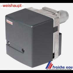 brûleur fioul WEISHAUPT WL5  de stock réputé pour la fiabilité et la qualité de sa combustion existe en 2 versions de 16,5 à 55