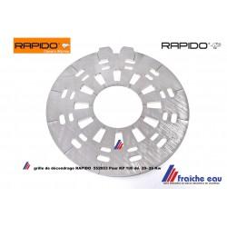 grille  foyer 552053 , agitateur  décendrage chaudière RAPIDO pellets KP 100 de 21 et 26 Kw rostplatte oben für pelletkessel