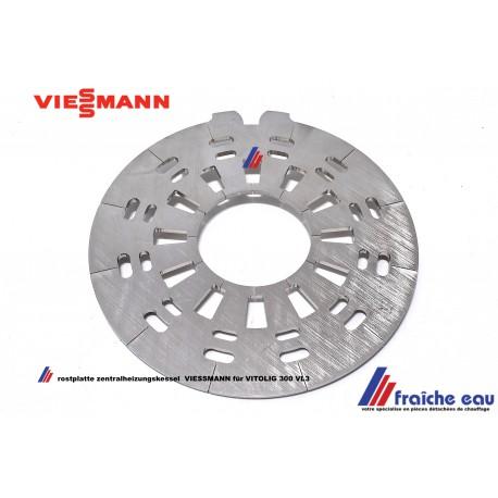 grille de décendrage chaudière à pellets VIESSMANN VITOLIG 300 VL3A 21 à 26 Kw , rostplatte für zentralheizungskessel BIOLYT