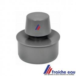 aérateur de décharge NICOLL 75 à 80 mm , pvc gris, a coller