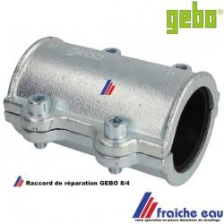 bride à machoires pour l'étanchéité sur un tube 8/4, avec joint NBR longueur 137 mm sur canalisation de 61 à 63 mm