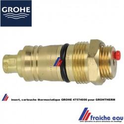 insert thermostatique, cartouche GROHE  47574000 mécanisme intérieur pour mitigeur à thermostat GROHTHERM