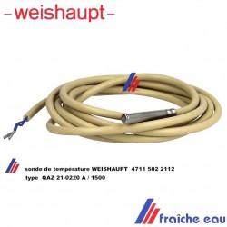 sonde de ballon WEISHAUPT 4711 502 2112 type QAZ 21-0220 , capteur de température pour WRD 02 pour ballond'eau chaude sanitaire