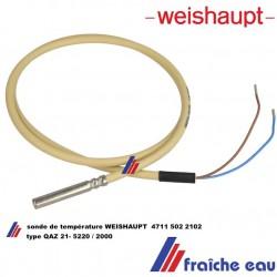 sonde de température WEISHAUPT 4711 502 2102 capteur QAZ 21-5220 / 2000  pour WRA , remplace 660149