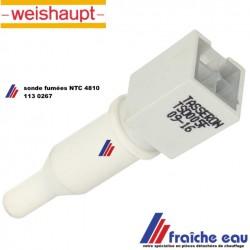 sonde de température de gaz d'échappement  WEISHAUPT type NTC 48101130267 , capteur  sonde de fumées  pour chaudière WTC