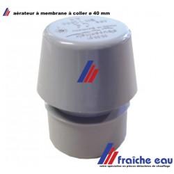 aérateur à membrane à coller ø 40 mm , aérateur de chute , ventilation pour décharge