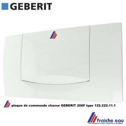plaque de commande GEBERIT 200F type 115.222.11.1 pour la renovation des anciens réservoir de chasse de la marque