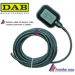 interrupteur à flotteur,câble 3 fils , contact de niveau pour citerne NO - NF , anti débordement de cuve, détection de niveau