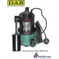 pompe vide cave DAB automatique  avec flotteur NOVA 180 M A  , pompage d'eau claire , hauteur de relevage 8  mètres