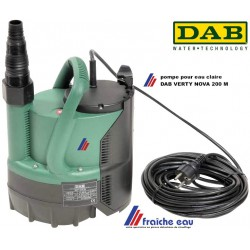 pompe submersible DAB VERTY NOVA 200 M , pour eau claire, relevage automatique d'un puisart ou comme pompe vide cave