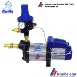 grâce à pressostat électronique , la pompe NEPTUNE distribue automatiquement l'eau de pluie dans toute la maison