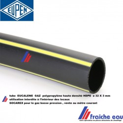 tube PEHD  socarex diamètre 32 x 3 mm  gaz butane et naturel ,PE 100 tuyau polyéthylène haute densité pour gaz basse pression