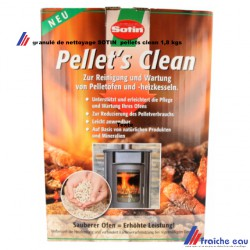 granulé de nettoyage SOTIN , ramonage chimique PELLETS CLEAN , nettoyant à base de produits naturels et minéraux