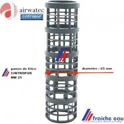 panier de filtre CINTROPUR pour système de filtation NW25 , grille  de support de housse de filtration