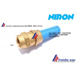 raccord à compression pour tubes  NIRON, NUPI, diamètre 25 mm filetage 3/4