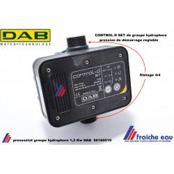 régulateur actif , pressostat électronique de pompe DAB, avec sécurité manque d'eau  , bloc de contrôle de groupe hydrophore
