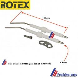 éléctrode d'allumage haute tension ROTEX INLINE  E 1500386 chaudière A1 BO 35 i  de 25 à 35 kw