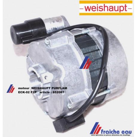 moteur de brûleur fioul à flamme bleue WEISHAUPT type WL5-PA-H  PURFLAM article 652067