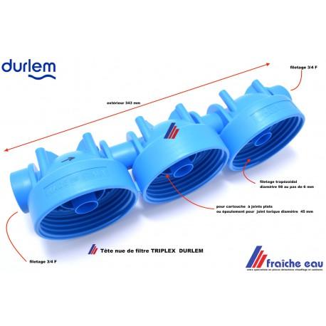 tête de filtre triple DURLEM , remplacement de la partie supérieure du filtre
