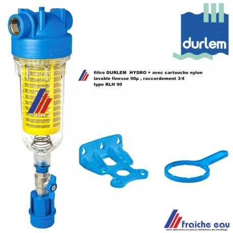 filtre rétro-lavable DURLEM HYDRO PLUS, filtre auto nettoyant avec tamis nylon, finesse 90 µ raccordements 3/4