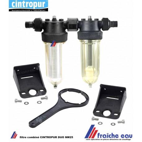 filtre fin combiné CINTROPUR DUO NW 25 avec doseur pour charbon actif en vrac