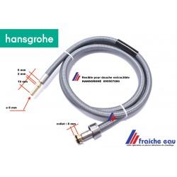flexible nylon tressé pour douchette robinet  cuisine HANSGROHE 95507000  remplace 88624000, flexible 150 cm , Vervangings Slang