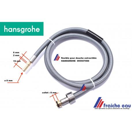 flexible pour douchette de robinet de cuisine HANSGROHE 95507000 flexible 150 cm douche extractible, Vervangings Slang