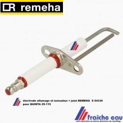 électrode d'allumage et détection de flamme par ionisation REMEHA  S 54339 , ontstekingselektrode quinta, ecocombi, quinta kombi