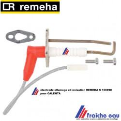 bloc électrode d'allumage et ionisation avec joint et câble CALENTA REMEHA S 100890, ontstekingen ionisatie elektrode CALENTA