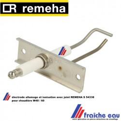 électrode d'allumage combinée avec détection de flamme par ionisation REMEHA  S 54338, ontsteking en  ionisatie-elektrode W40/60