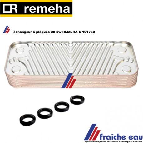 échangeur à plaques chaudière à condensation REMEHA S 101750 ,onderdelen, tapwaterplatenwisselaar 28 kW