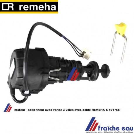 moteur avec vanne 3 voies REMEHA S 101765 wisselstukken onderdelen voor dienst na verkoop  : actuator met driewegklep